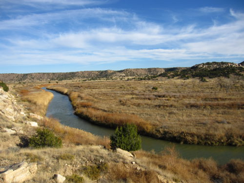 A photograph of Picketwire Canyon in the Comanche National Grassland